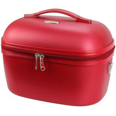 VANITY CASE SNOWBALL DUBLIN 34 X 24 CM ABS - Idée cadeau femme Rouge