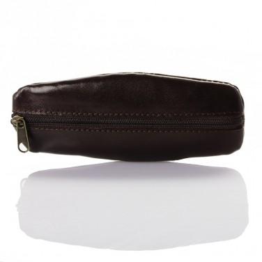 Achat utile - Porte monnaie / Porte-clés cuir marron TK185