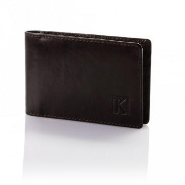 Cadeau utile - Porte-cartes cuir véritable TK189 Marron choco