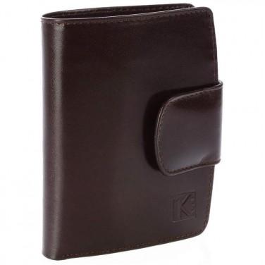 CLASSIQUE TK193 Portefeuille porte-monnaie femme - 100% cuir Marron MAGLI