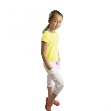Jogging Blanc fille - Pantalon De Sport L'été - Confortable et girly