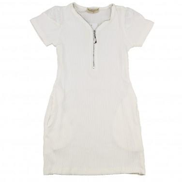 "Robe pour fille blanc ""PAPILLON"" 2389"