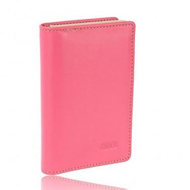 Porte-cartes de visite cuir multicolore - Achat/Cadeau femme Rose
