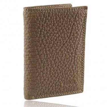 Cadeau/Achat utile - Porte cartes/billets cuir gariné Beige