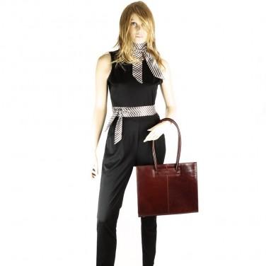 Cadeau achat utile - BANDEAU - FOULARD - ÉCHARPE - SERRE-TÊTE - CEINTURE Tout en un. à rayures noir. blanc. rouge Marron