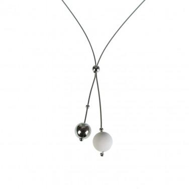 Collier Femme Boules design en argent 925/1000 Bijoux Mode SOLDES