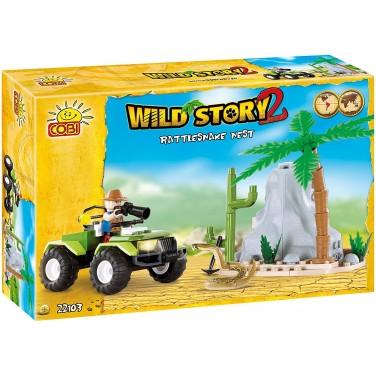 Wild Story 22103 Le Serpent A Sonnette Nest 100 Pièces - Jouet - Jeu De Construction