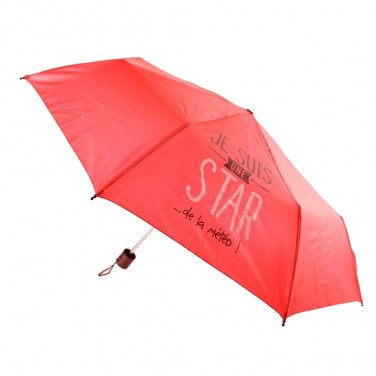 """MO0415 - Parapluie pliable - Parapluies """"JE SUIS"""" diamètre 97 cm"""