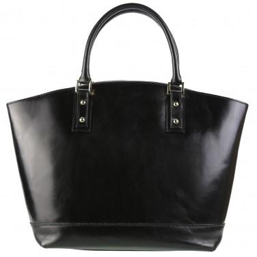 Cabas / Sac à main cuir noir Sac en cuir véritable N1580 / Cuir Italien / LIVRAISON GRATUITE