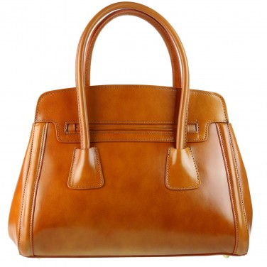 OLIVIA - Sac à main cuir véritable - Sac en cuir marron/camel N1363 Livraison OFFERTE