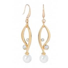 Boucles d'oreilles gouttes d'eau perles plaqué or - Bijoux mode