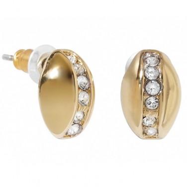 Boucles d'oreilles coccinelle plaqué or 24 carats cristaux Swarovski 595