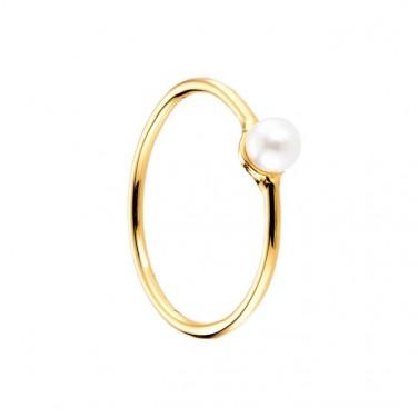 Bague plaque Or jaune Perle blanc Bijou N994 62 mm (22)
