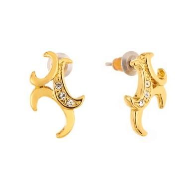 Boucles d'oreilles Plaqué Or - Cristaux Swarovski - Bijoux fantaisie -593
