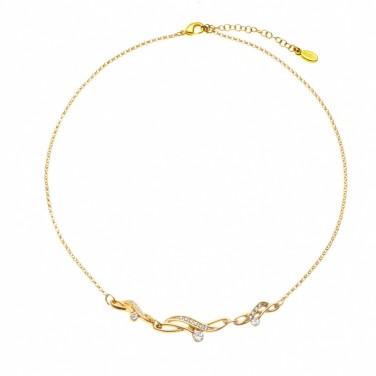 Collier Pendentif plaqué Or jaune Perle - Bijoux fantaisie -473