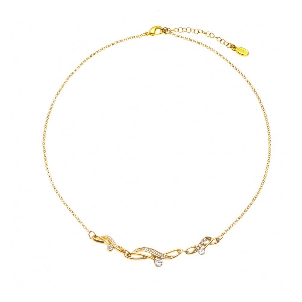 Collier Pendentif plaqué Or jaune Perle - Bijoux fantaisie -474