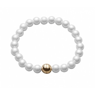 Bracelet perles d'imitation blanc nacré Classique N608