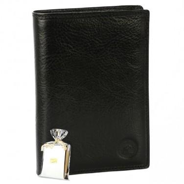 Portefeuille Monnaie Cartes Permis Certificat Cuir Noir Homme Femme N1182