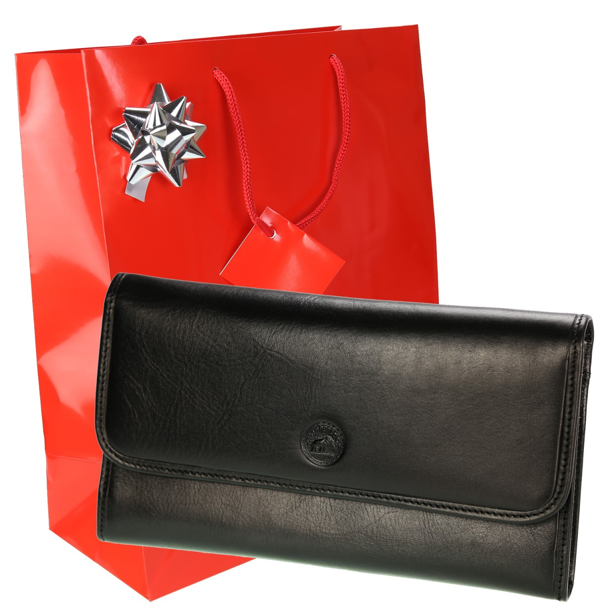 GRAND CLASSIQUE Portefeuille en cuir NOIR N1328 - Grand Portefeuille Homme PACK cadeau Noël. une fête. un anniversaire