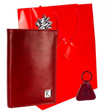 Grand portefeuille homme cuir 15 cm / PACK cadeau TK Noël Anniversaire