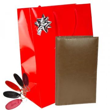 Idée cadeau femme / Portefeuille en cuir type porte chéquier TK + accessoires / Noël Anniversaire