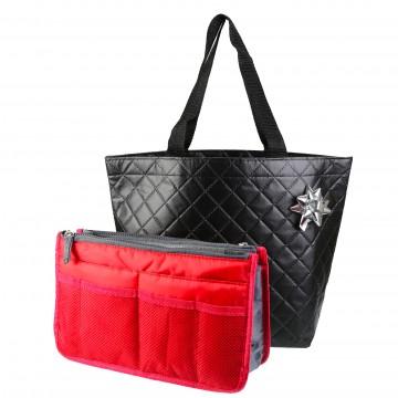 PACK Cadeau Femme / Organiseur de sac à main + Sac de ville + Emballage Noel