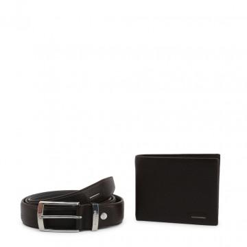 Portefeuille et ceinture pour hommes, cadeau Noël homme Carrera Jeans LAOBAN_CB1622C_DKBROWN