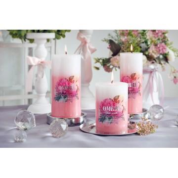 "Bougies ""OMBRE""Lot 3 PCS Bougies parfumée ROSE"