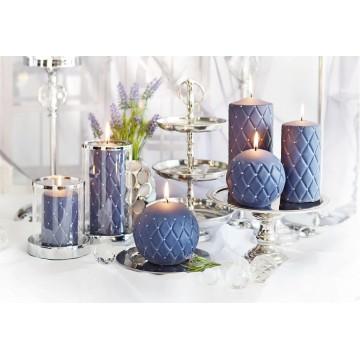"""Bougies """"FLORENCJA MAT""""Lot 6 PCS Bougies décoratives bleu"""