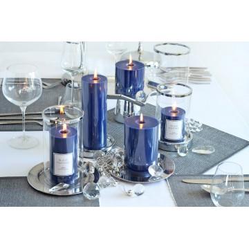 "Bougies GLASS SCENTED CANDLE""Lot5 PCS Bougies parfumées BLUE"