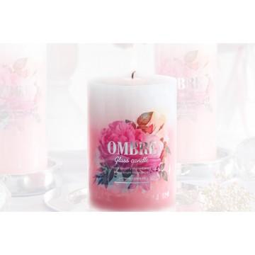 """Bougie Parfumée """"OMBRE"""" 8x7 cm ROSE"""