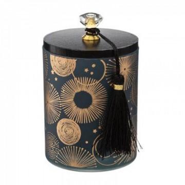 bougie parfumées verre bois cercle 185g, 2-fois as