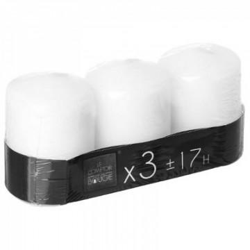 bougie votives blanc 110g 5x7.5 x3 blanc