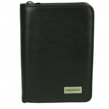 Jolie porte-monnaie portefeuille femme en cuir orange N783