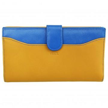 Portefeuille femme / Portefeuille en cuir A8092 Compagnon marron foncé