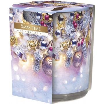 Bougie parfumée 120g Cire 7x8cm 22h Noel