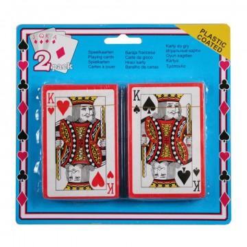 Cartes à jouer 2 pièces sur carte
