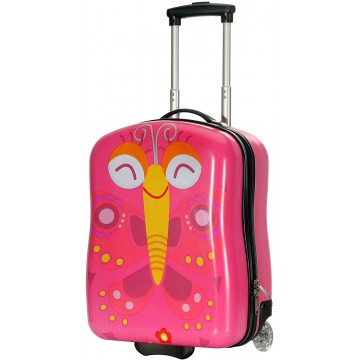 Valise cabine enfant/fille ROSE LOVE PARIS ABS 50X33X20CM