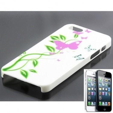 Jolie étui-coque papillon violet pour iPhone 5 Cadeau utile N0342
