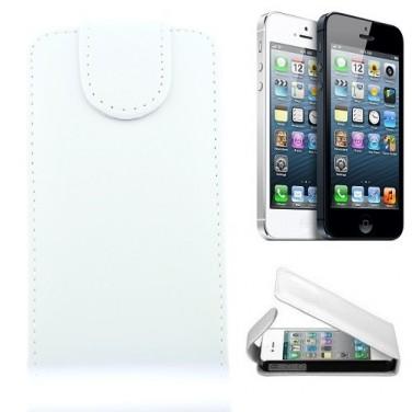 Apple iPhone 5 Etui Coque Housse Cuir flip Blanc PROMOTION -30%