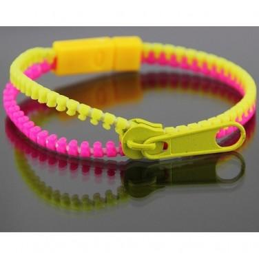 Bracelet Zip tendance 2013 Couleurs FLUO N662