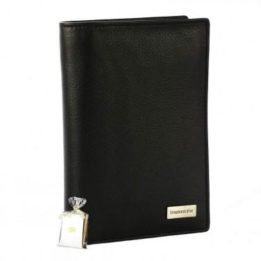 Portefeuille Design pour homme en cuir noir N772 PACK cadeau parfait pour Noël. une fête. un anniversaire