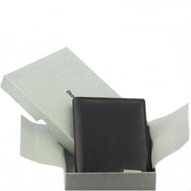 Cadeu utile Homme/Femme - Porte papiers en cuir de vachette lisse N1279 NOIR
