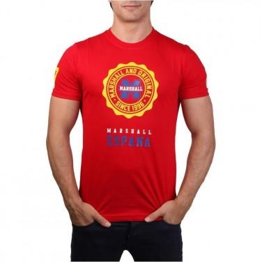 T-Shirt ESPANA Rouge 1623 Coupe Du Monde Brasil / taille M / t-shirt homme