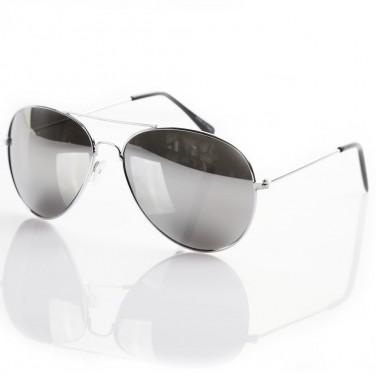 Lunettes de soleil tendance - VIPER 1964 UV400 - Monture argent - Verre effet miroir
